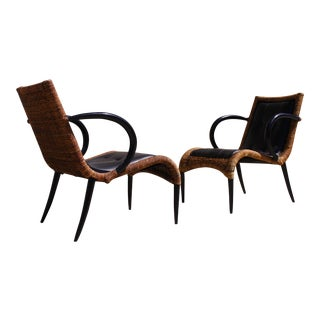 Sculptural Arm Chairs - A Pair