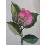 Image of Antique 1883 Framed French Watercolor Painting