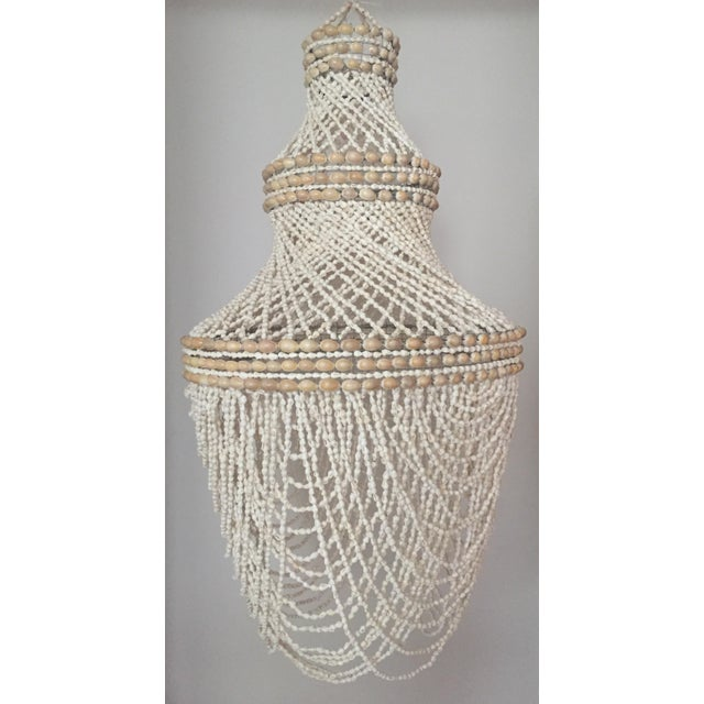 Beaded Shell Chandelier Lantern - Image 2 of 7