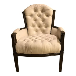 Cream Linen Upholstered Chair