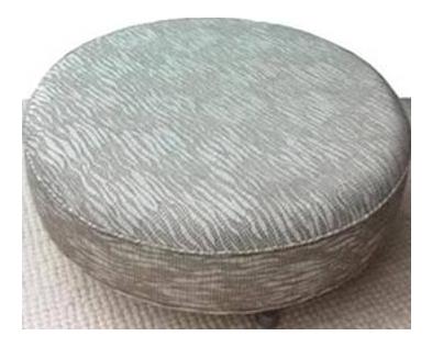 round gray upholstered ottoman - Upholstered Ottoman