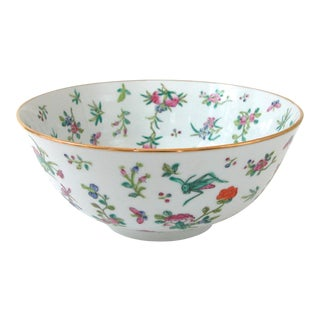 Japanese Hand Painted Floral Bowl