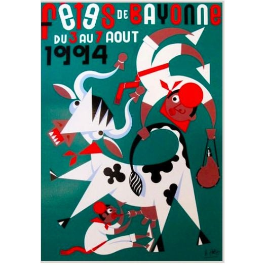 1994 Fetes De Bayonne French Festival Poster - Image 1 of 4