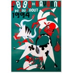 Image of 1994 Fetes De Bayonne French Festival Poster