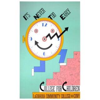 1987 Seymour Chwast College for Children Poster