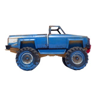 Blue Vintage Toy Monster Truck Photograph