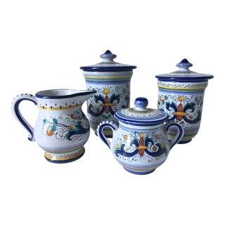 "Deruta ""Ricco""- Creamer & Sugar -2 Jars"