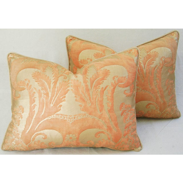 Italian Fortuny Glicine Gold Pillows - Pair - Image 11 of 11