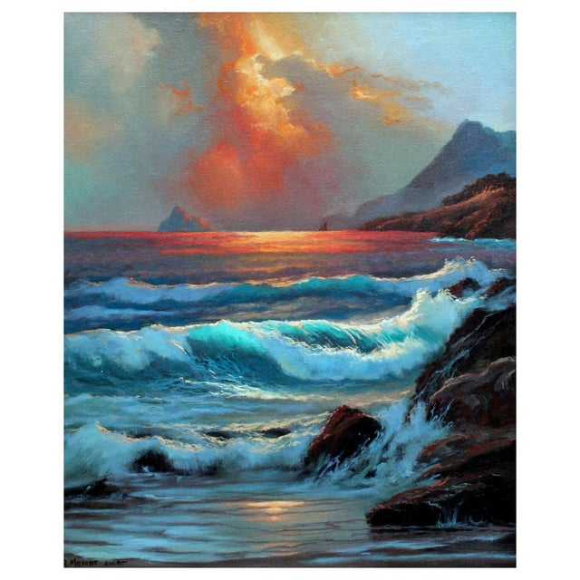 Image of Ocean Storm Painting by Anthony Muscat