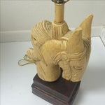 Image of Vintage Horse Bust Table Lamp