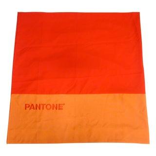 Two Pantone Block Orange Curtains