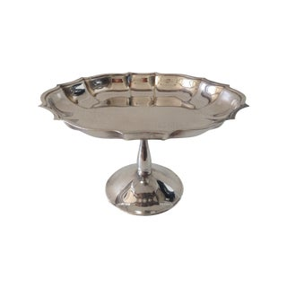 Vintage Silver-Plated Footed Bon-Bon Server Dish