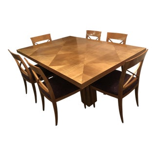 Baker Dining Table & Chairs - Set of 7
