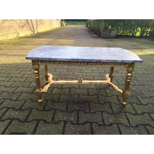 Louis Xvi Marble Coffee Table: Louis XVI Gold Wood & Marble Top Coffee Table