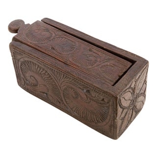 Wood Carved Box From India