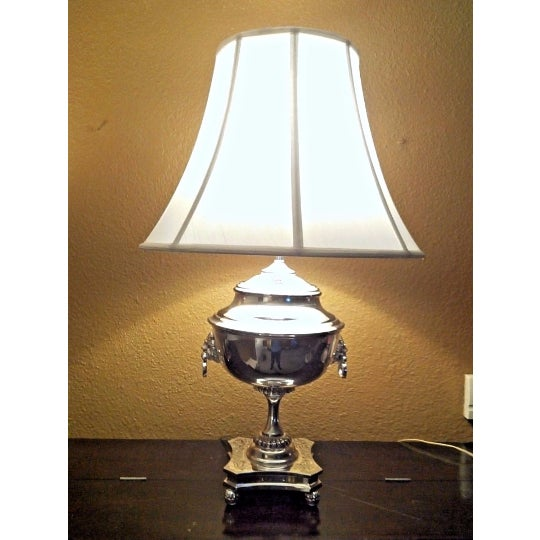 ralph lauren samovar table lamp in polished silver chairish. Black Bedroom Furniture Sets. Home Design Ideas