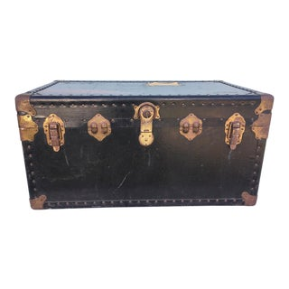 Vintage Steamer Trunk With Working Lock and Original Key