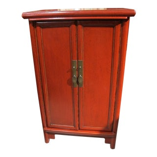 Chinese Red Lacquered Side Table