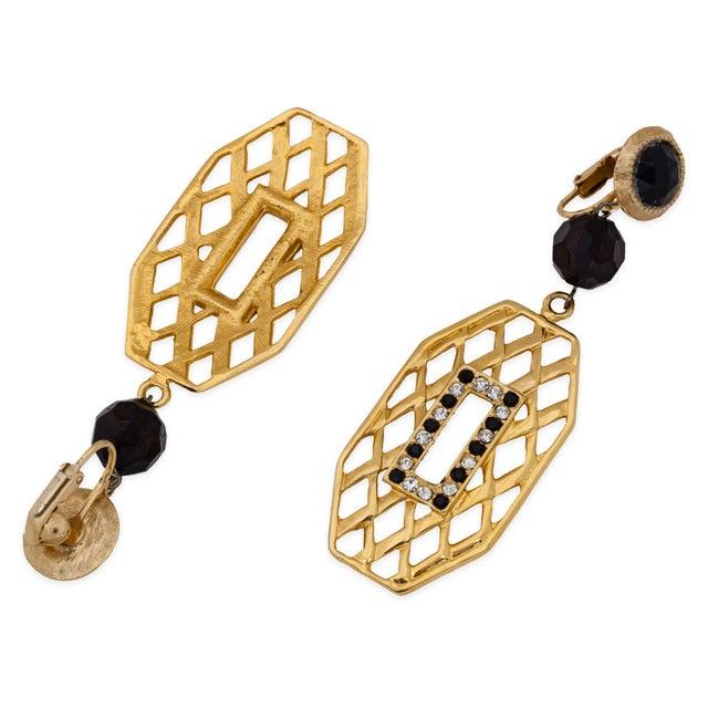 Image of  Basket Weave Topaz Chandelier Earrings