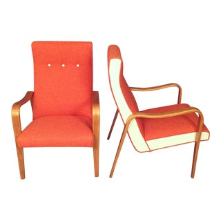Mid-Century Modern Thonet Bentwood Lounge Chairs -- A Pair