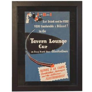 American Tavern Lounge Car Poster