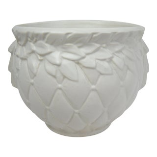 Medium McCoy Pottery White Jardiniere