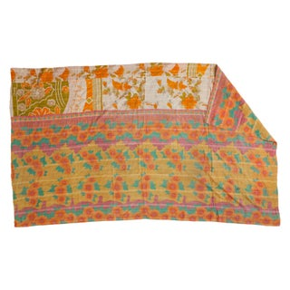Vintage Indian Kantha Quilt