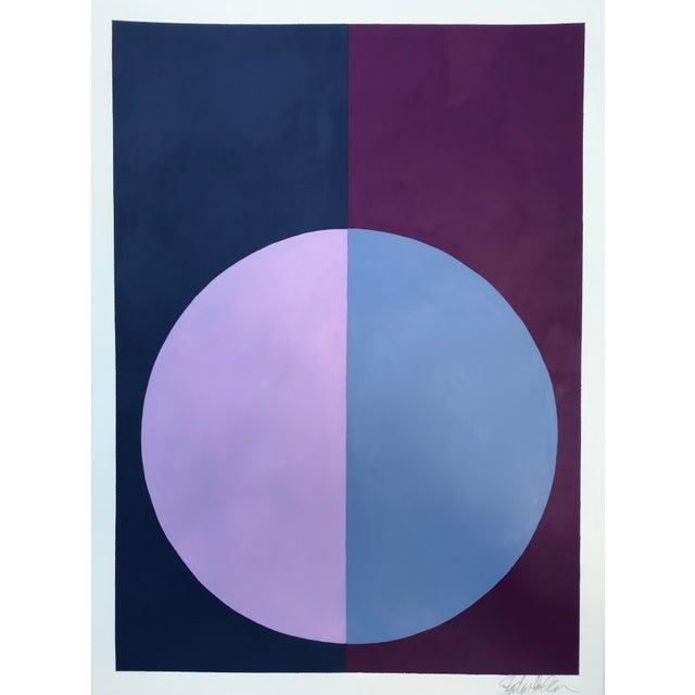 """""""Indigo & Violet Forever"""" Acrylic Painting - Image 5 of 5"""