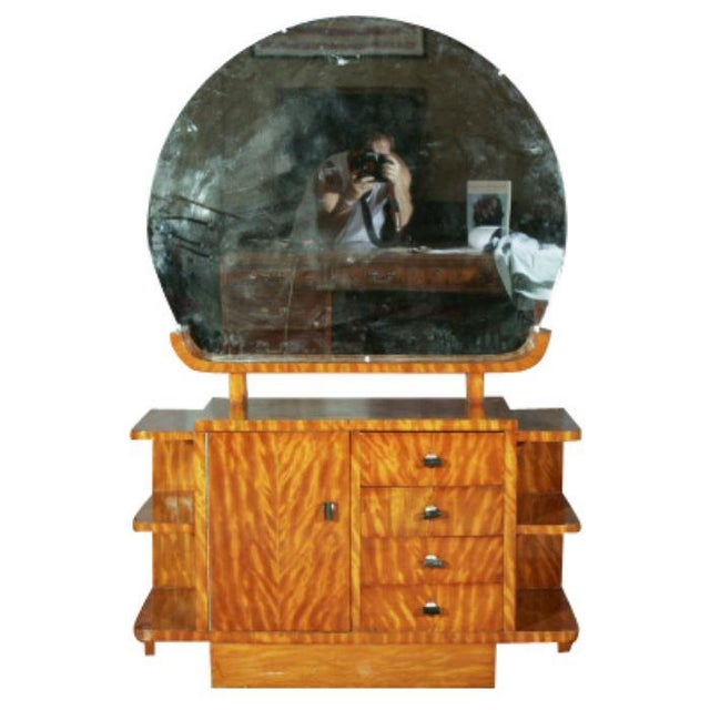 Art Deco Vanity With Mirror - Image 1 of 7