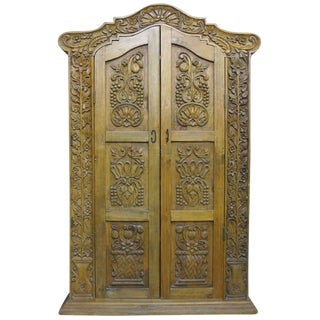 Hand Carved Wood Wardrobe Tv Cabinet