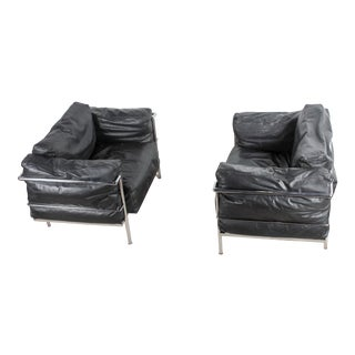 Vintage Le Corbusier for Natuzzi Lounge Chairs - a Pair