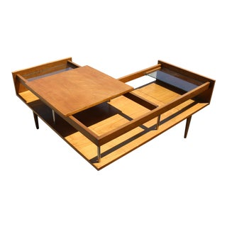 Milo Baughman Sliding Top Coffee Table