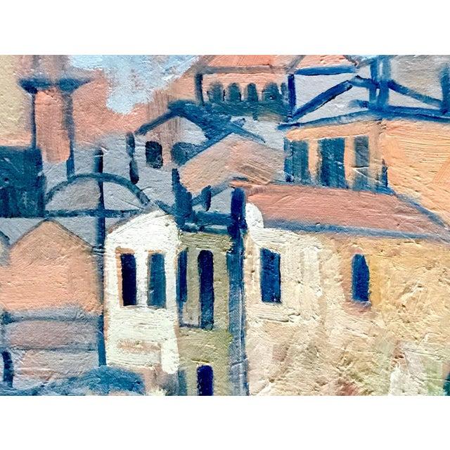 """Mediterranean Harbor"" Original Oil Painting - Image 2 of 3"