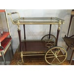 Image of 1880s French Brass Bar Cart