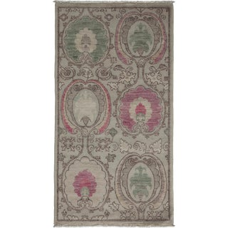 """New Arts & Crafts Hand-Knotted Rug - 2'7"""" x 4'10"""""""