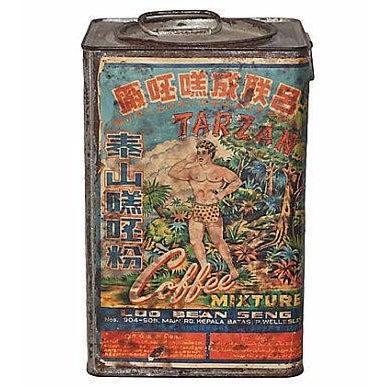 Tarzan Coffee Tin With Graphics, 1920s - Image 1 of 5
