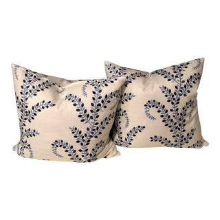 """Pretty in Blue"" Pillows - A Pair"