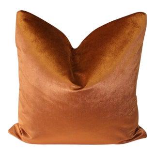Burnt Orange Robert Allen Velvet Pillow