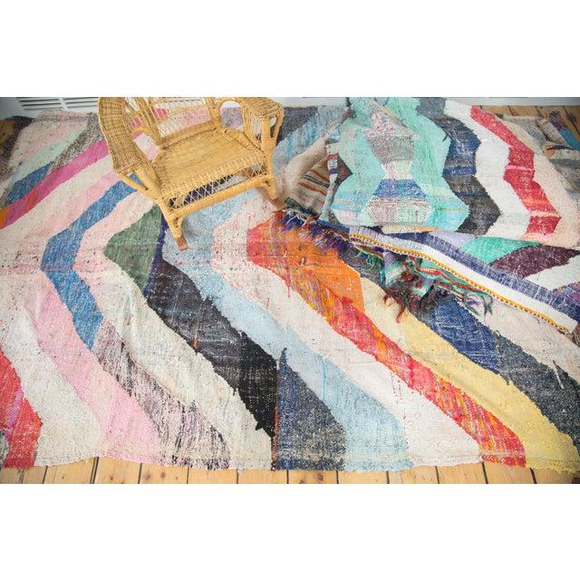 "Vintage Rag Rug Carpet - 5'2"" X 9'2"""