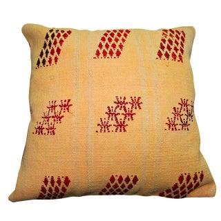Turkish Orange Overdyed Pillow