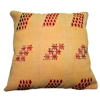 Turkish Orange Overdyed Pillow