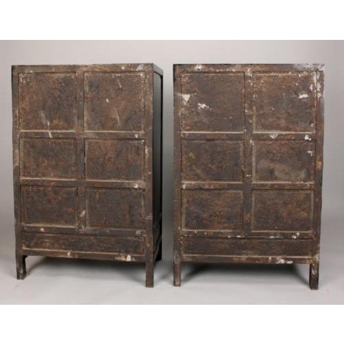 Antique Chinese Zitan Cabinets - A Pair - Image 6 of 11