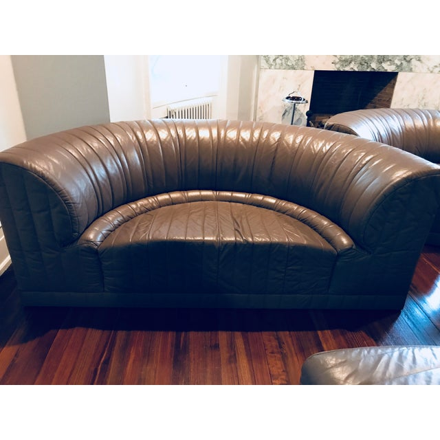 Roche Bobois Leather Sectional Sofa - Image 3 of 11