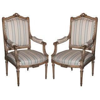Louis XVI Style Fauteuils byMaison Jansen - A Pair