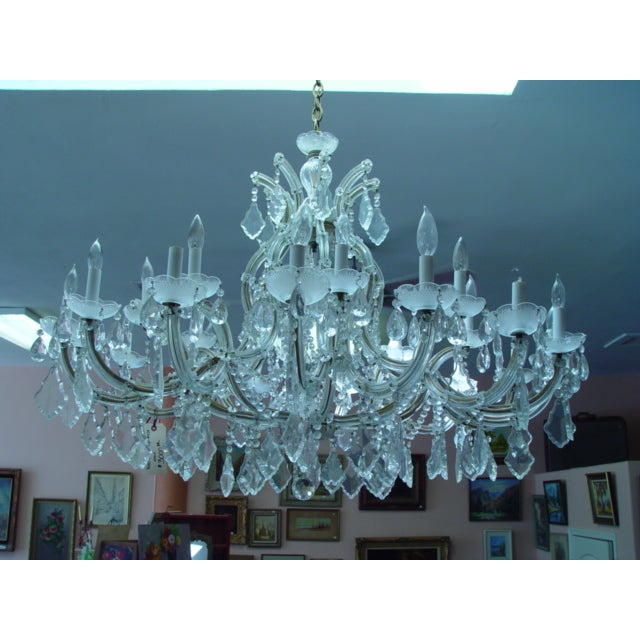 Maria Theresa 16 Arm Chrystal Chandelier - Image 3 of 7