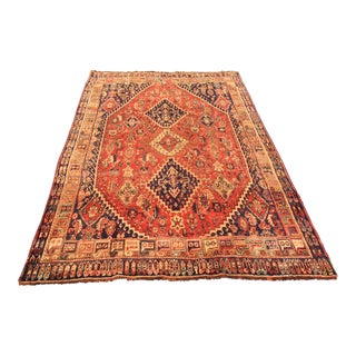 "Persian Distressed Thick Qashghi Rug - 4'10"" x 7'5"""