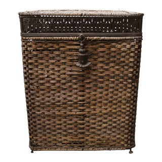 Victorian Wicker Laundry Hamper