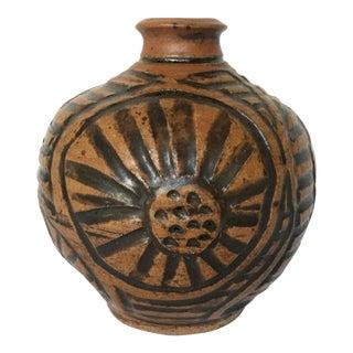 Mid Century Flower Pottery Vase