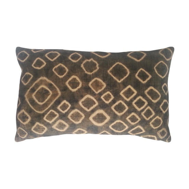 Spotted African Kuba Cloth Pillow - Image 1 of 3