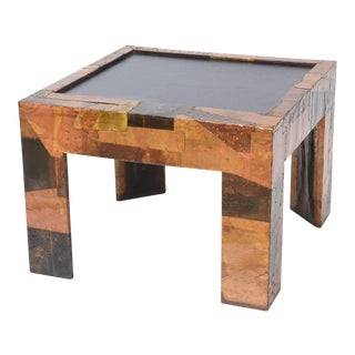 Mixed Metals Patchwork Series and Vermont Slate Top Table, Paul Evans